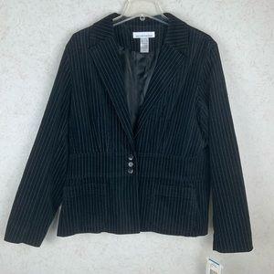 Jones New York Sport black pinstripe blazer
